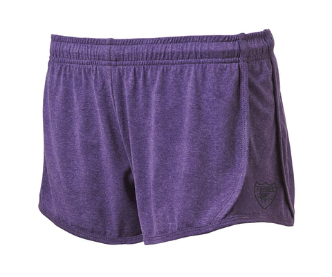 Active Fit Heather Performance Shorts - Purple - Loriet Activewear