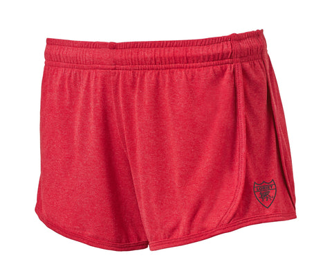 Active Fit Heather Performance Shorts - Red - Loriet Activewear
