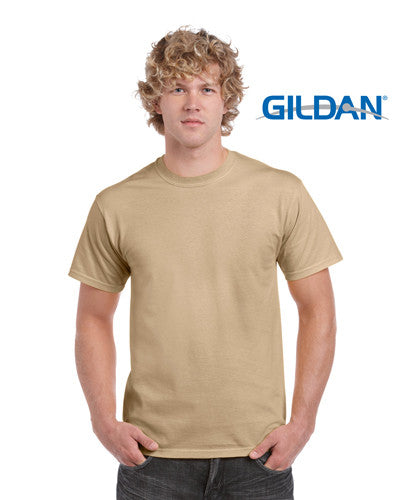 Gildan Ultra Cotton Adults T-Shirt Tan