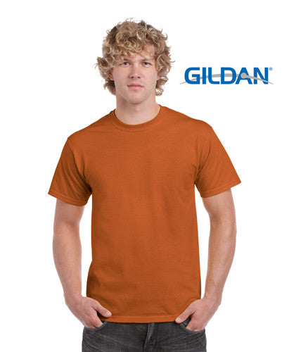 Gildan Ultra Cotton Adults T-Shirt Texas Orange
