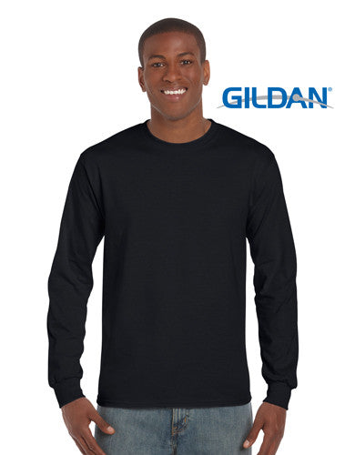 Gildan Ultra Cotton Adult Long Sleeve T Shirt Black