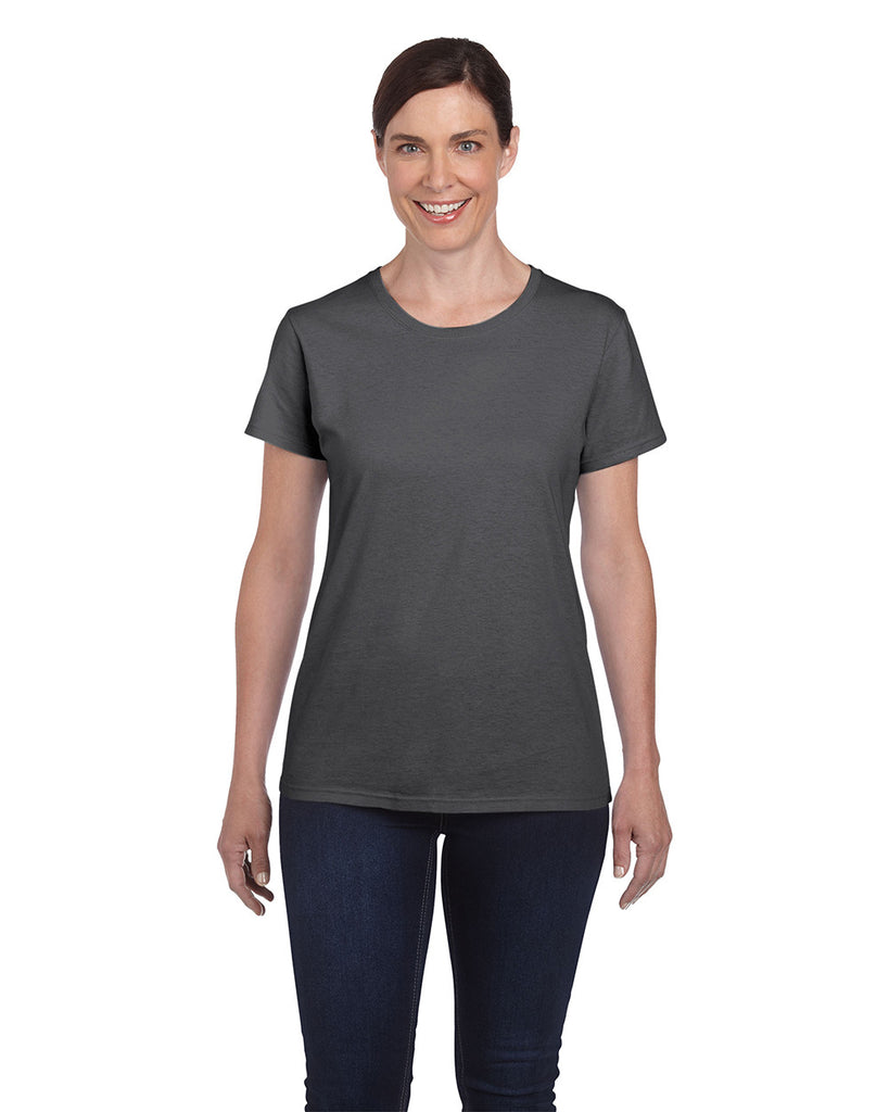 Gildan Heavy Cotton Ladies T-Shirt Dark Heather