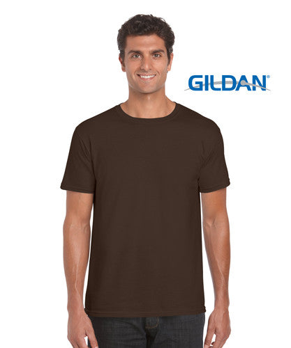 Gildan Soft Style Adults T-Shirt Dark Chocolate