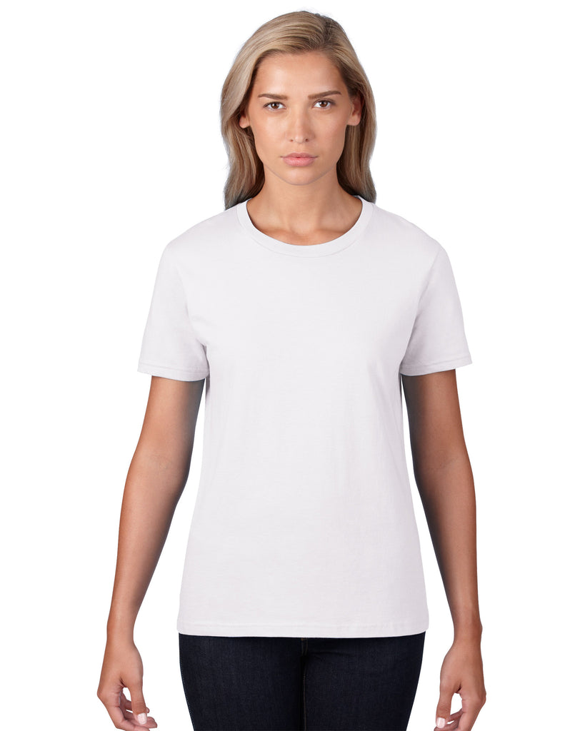 Anvil Womens Lightweight Tee White
