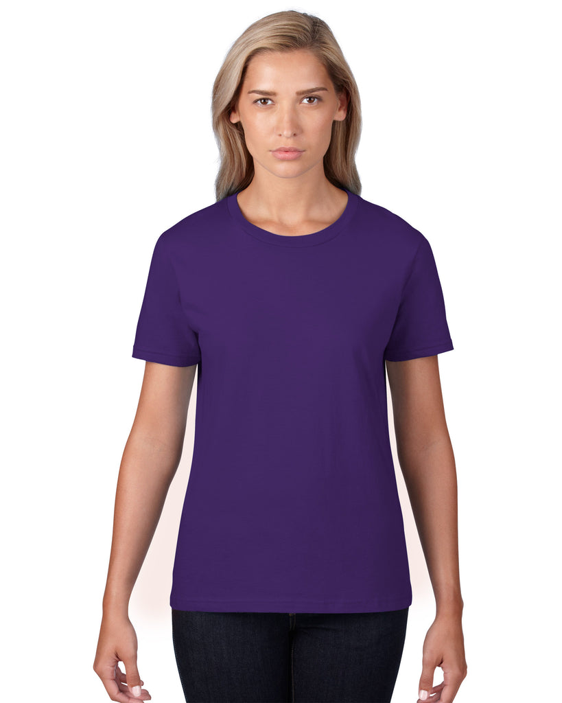 Anvil Womens Lightweight Tee Purple