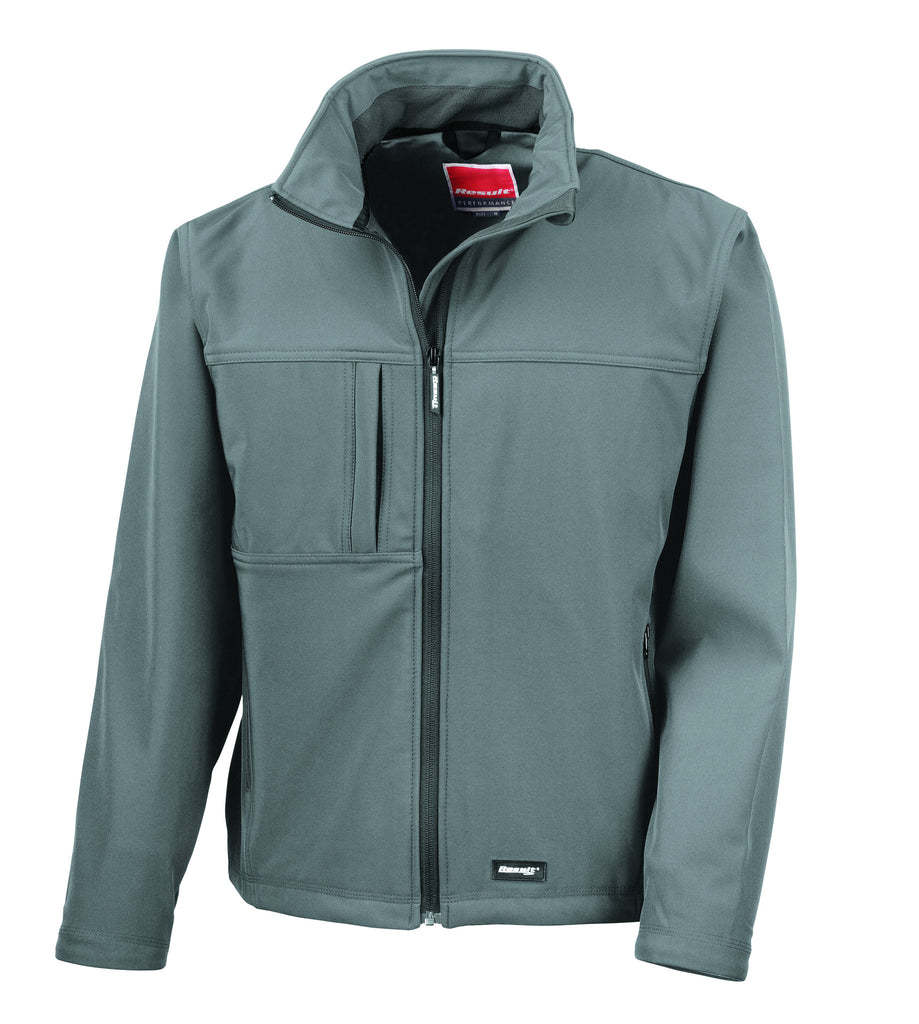Results Ladies Classic Soft Shell Jacket Grey