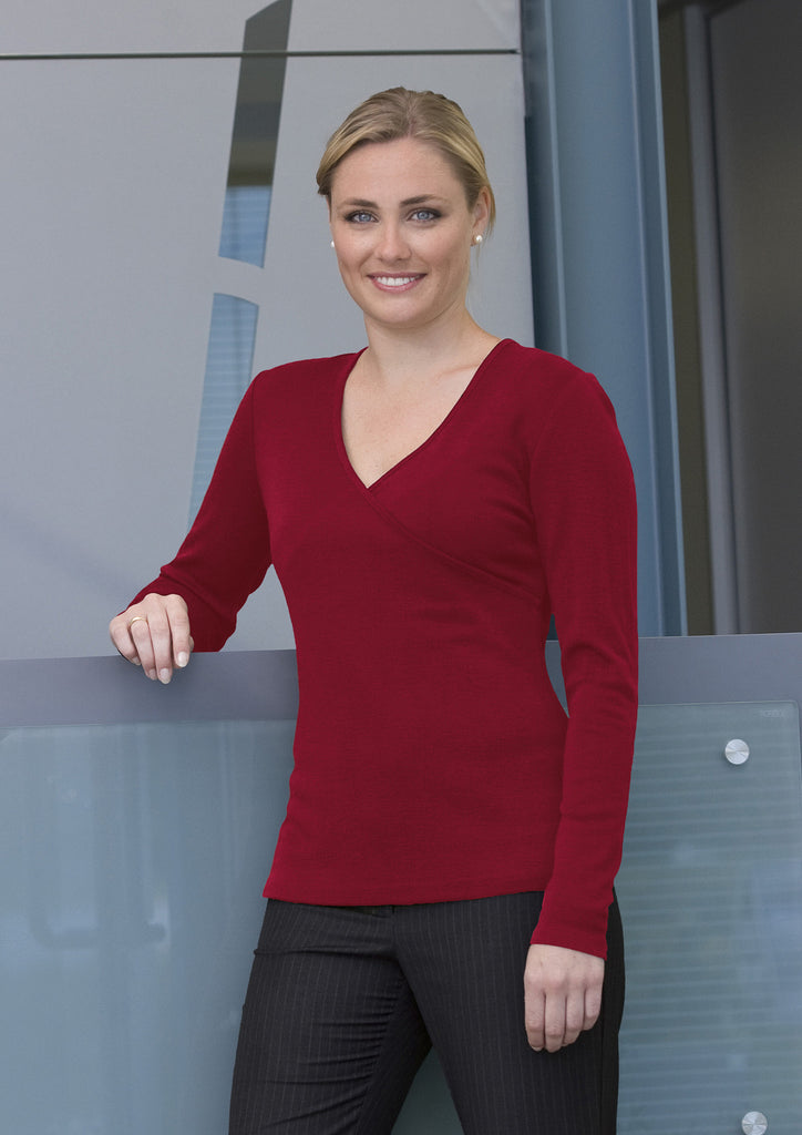 Merino Crossover Top - Womens