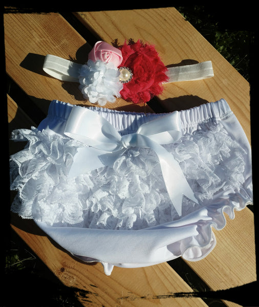Ruffle Bloomer and Headwrap set