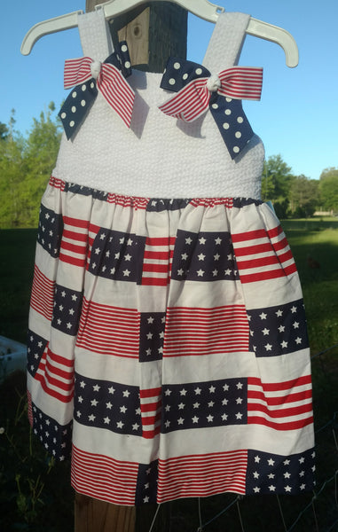 Patriotic picnic sun dress