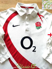 2007/08 England Home Rugby Shirt. (XL)