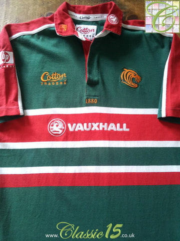 2001/02 Leicester Tigers Home Rugby Shirt (M)