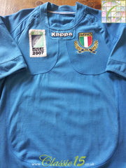 2007 Italy Home World Cup Rugby Shirt (M)