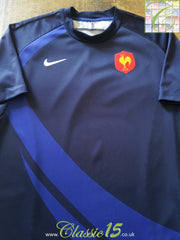 2007/08 France Home Pro-Fit Rugby Shirt (M)