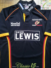 2004/05 Newport Gwent Dragons Home Shirt (M)