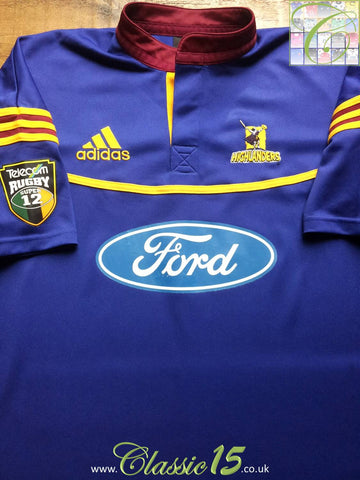 2001 Highlanders Home Super 12 Rugby Shirt (L)