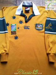 2003 Australia Home World Cup Rugby Shirt (XS)