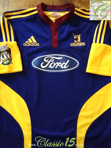 2007 Highlanders Home Super 14 Rugby Shirt (L)