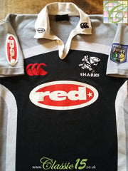 2001 Sharks Home Super 12 Rugby Shirt (XXL)
