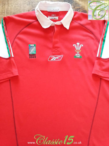 2003 Wales Home World Cup Rugby Shirt (L)