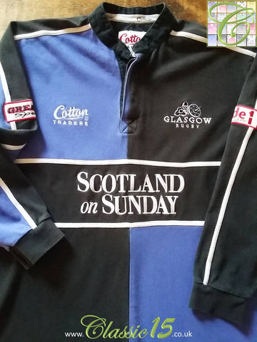 2003/04 Glasgow Home Rugby Shirt. (M)