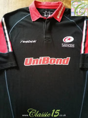 2002/03 Saracens Home Rugby Shirt (XL)