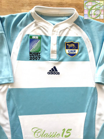 2007 Argentina Home World Cup Rugby Shirt (M)
