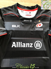 2016/17 Saracens Home Player Issue Rugby Shirt (L)