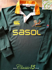 2006/07 South Africa Home Rugby Shirt. (M)
