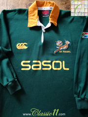 2005/06 South Africa Home Techtex Rugby Shirt. (M)