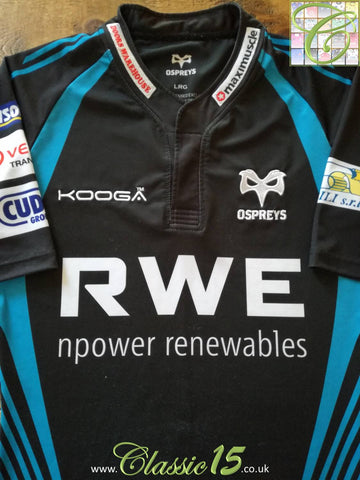 2011/12 Ospreys Home Rugby Shirt (L)