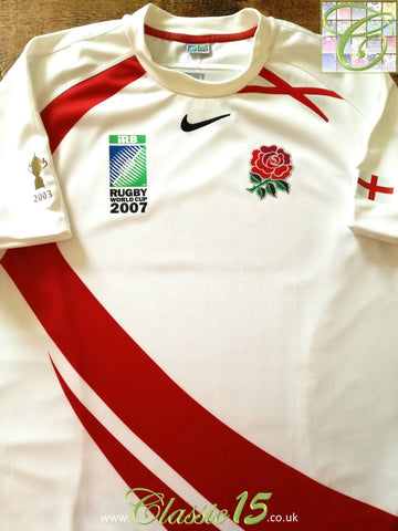 2007 England Home World Cup Pro-Fit Rugby Shirt (L)