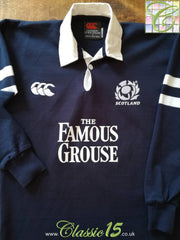 2002/03 Scotland Home Rugby Shirt. (M)