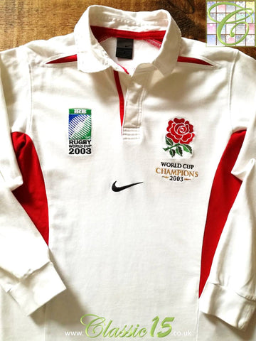 2003 England Home World Cup Champions Rugby Shirt. (XL)