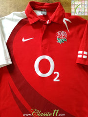 2007/08 England Away Rugby Shirt (L)