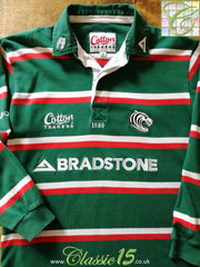 2005/06 Leicester Tigers Home Rugby Shirt. (M)