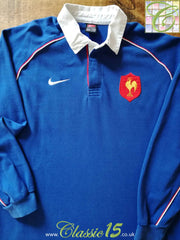 2001/02 France Home Rugby Shirt (L)