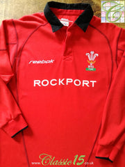 2002/03 Wales Home Rugby Shirt. (XL)