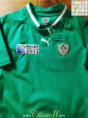 2011 Ireland Home World Cup Player Issue Rugby Shirt (L)