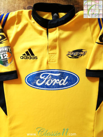2001 Hurricanes Home Super 12 Rugby Shirt (L)