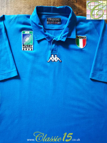 2003 Italy Home World Cup Rugby Shirt (L)