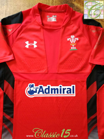 2013/14 Wales Home Pro-Fit Rugby Shirt (M)