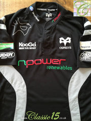 2007/08 Ospreys Home Rugby Shirt (XL)