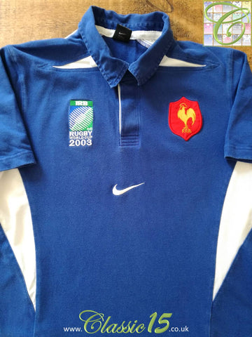 2003 France Home Rugby World Cup Shirt (L)