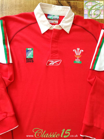 2003 Wales Home World Cup Rugby Shirt. (L)