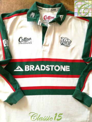 2002/03 Leicester Tigers Away Rugby Shirt. (M)