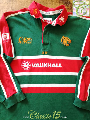 2001/02 Leicester Tigers Home Rugby Shirt. (M)