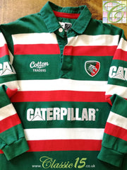 2009/10 Leicester Tigers Home Rugby Shirt. (XL)