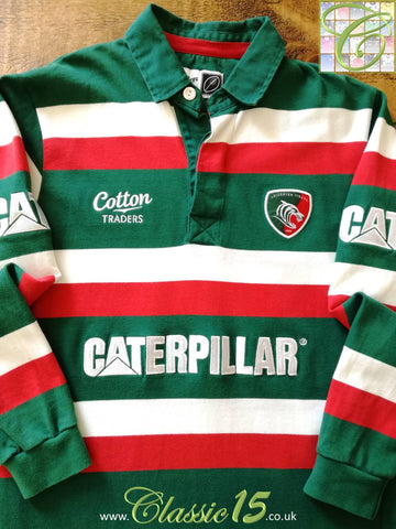 2009/10 Leicester Tigers Home Rugby Shirt. (M)