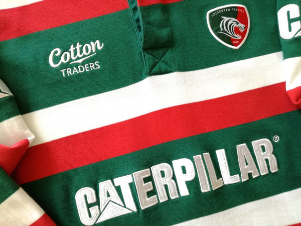 90c2fe7a26c 2009/10 Leicester Tigers Home Rugby Shirt. (S)