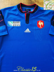 2015 France Home World Cup Rugby Shirt (L)
